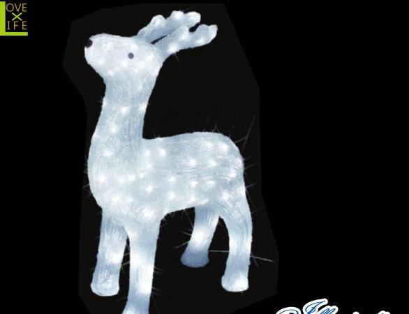 【イルミネーション】トナカイ【L】【となかい】【クリスタル】【立体】【動物】【アニマル】【グロー】【LED】【クリスマス】【電飾】【モチーフ】【ローボルト】【かわいい】