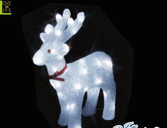 【イルミネーション】トナカイ【M】【となかい】【クリスタル】【立体】【動物】【アニマル】【グロー】【LED】【クリスマス】【電飾】【モチーフ】【ローボルト】【かわいい】