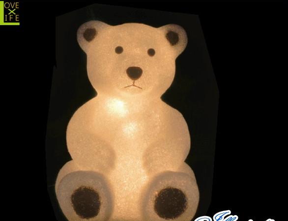 【イルミネーション】クマ【L】【くま】【熊】【クリスタル】【立体】【動物】【アニマル】【グロー】【LED】【クリスマス】【電飾】【モチーフ】【ローボルト】【かわいい】