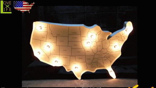 【アメリカン雑貨】マップライト【USA MAP LIGHT】【ホワイト】【アメリカンサイン】【ブリキ】【電飾】【ライト】【雑貨】【インテリア】【装飾】【アメリカ雑貨】【アメリカ】【USA】【かわいい】【おしゃれ】
