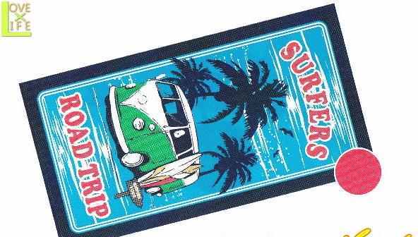 オリジナル レジャーバスタオル ロードトリップ 海水浴 海 プール レジャー 送料無料 グッズ 低価格 大き目 即納 かわいい ブランケット 大人気 タオル