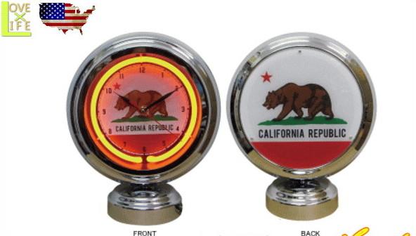 【アメリカン雑貨】ガスランプネオンクロック【GAS LAMP】【カリフォルニアリパブリック】【カリフォルニア】【ライト】【電飾】【インテリア】【オブジェ】【置物】【雑貨】【アメリカ雑貨】【アメリカ】【USA】【時計】【おしゃれ】
