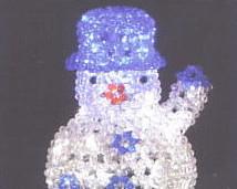 クリスタルスノーマン クリスマス LEDイルミネーション【20 】【送料無料】【クリスマス】【イルミネーション】【電飾】【モチーフ】【大人気】