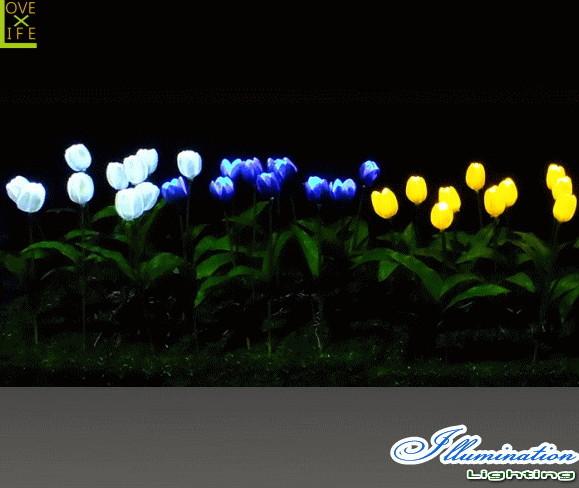 【イルミネーション】チューリップ【フラワー】【お花】【お花畑】【はな】【LED】【クリスタル】【電飾】【モチーフ】【クリスマス】【かわいい】