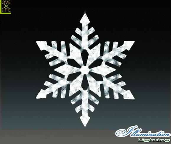 【イルミネーション】スノージェイド【L】【雪】【結晶】【スノー】【フレーク】【クリスタル】【LED】【フォルム】【電飾】【モチーフ】【クリスマス】【かわいい】