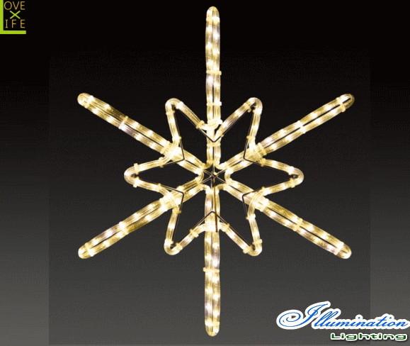 【イルミネーション】ツインクルスノーフラッシュ【S】【雪】【結晶】【スノー】【フレーク】【クリスタル】【LED】【フォルム】【電飾】【モチーフ】【クリスマス】【かわいい】