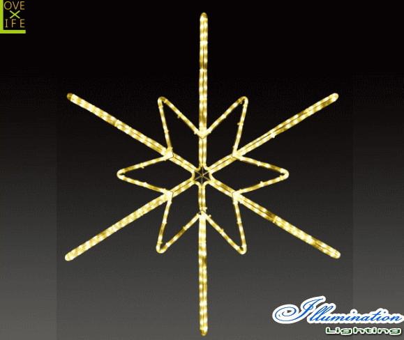 【イルミネーション】ツインクルスノーフラッシュ【L】【雪】【結晶】【スノー】【フレーク】【クリスタル】【LED】【フォルム】【電飾】【モチーフ】【クリスマス】【かわいい】