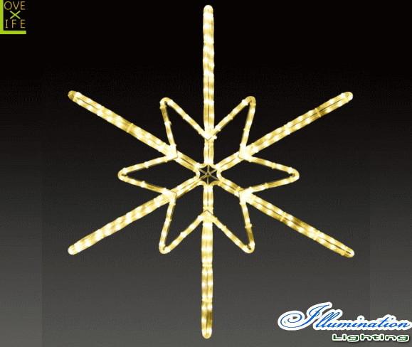 【イルミネーション】ツインクルスノーフラッシュ【M】【雪】【結晶】【スノー】【フレーク】【クリスタル】【LED】【フォルム】【電飾】【モチーフ】【クリスマス】【かわいい】