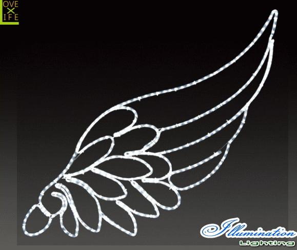 【イルミネーション】ウィング【羽】【翼】【結晶】【つばさ】【アート】【クリスタル】【LED】【フォルム】【電飾】【モチーフ】【クリスマス】【かわいい】