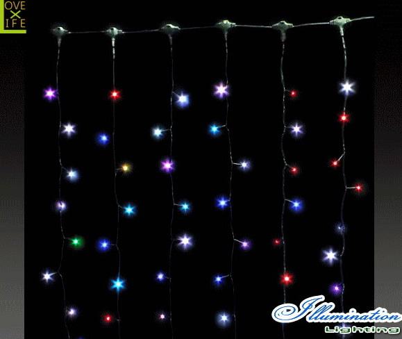 【LED】【フルカラーフラッシュ】カーテンライト【拡散LED】【新商品】【カーテン】【ライト】【プロ】【工事】【大人気】【イルミネーション】【クリスマス】【電飾】