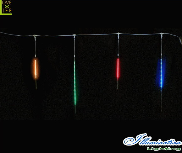 【無限変色】【イルミネーション】スターダストスリム【50球】【RGB】【流れ星】【流星】【雫】【スター】【LEDライト】【ストレート】【電飾】【装飾】【クリスマス】【輝き】【美しい】【イルミ】【ライト】