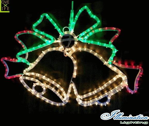 【イルミネーション】ツインベル【リボン】【べる】【ベル】【壁掛け】【2D】【装飾】【LED】【飾り】【アート】【輝き】【電飾】【モチーフ】【クリスマス】【クリスタル】【かわいい】