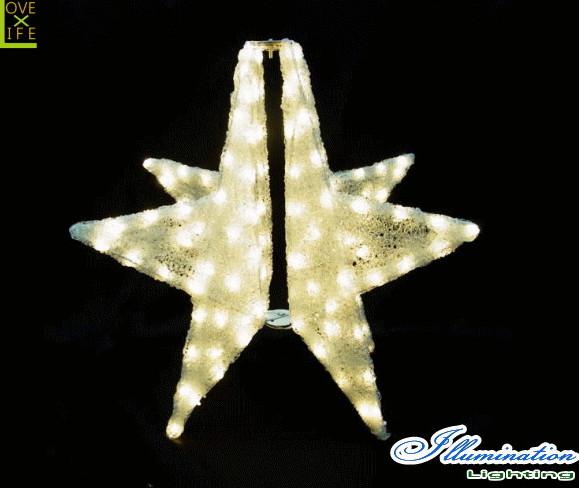 【イルミネーション】3Dスター【ゴールド】【星】【スター】【LED】【オブジェ】【エクステリア】【電飾】【モチーフ】【クリスマス】【クリスタル】【かわいい】【素敵】