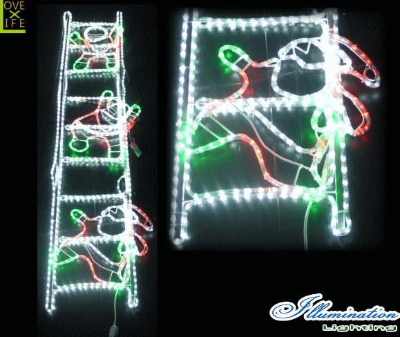 【イルミネーション】【大型商品】ハシゴサンタ【サンタ】【サンタクロース】【ハシゴ】【平面】【LED】【壁掛け】【アート】【輝き】【電飾】【モチーフ】【クリスマス】【かわいい】