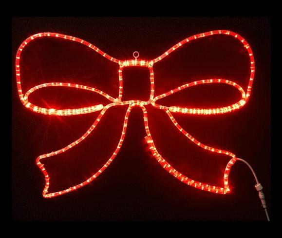 【イルミネーション】リボン【レッド】【大】【プレゼント】【LED】【2D】【装飾】【飾り】【アート】【輝き】【電飾】【モチーフ】【クリスマス】