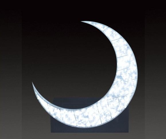 【イルミネーション】【大型商品】オンザムーン【月】【moon】【ムーン】【LED】【クリスタル】【フォルム】【電飾】【モチーフ】【クリスマス】【かわいい】