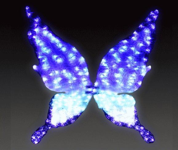 【イルミネーション】【大型商品】バタフライ【ブルー】【大】【蝶】【蝶々】【昆虫】【LED】【置物】【アゲハ】【動物】【電飾】【モチーフ】【クリスマス】【クリスタル】【かわいい】