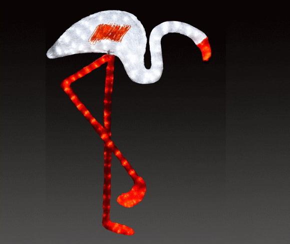 【イルミネーション】【大型商品】フラミンゴ【ホワイト】【A】【鳥】【湖】【トリ】【輝き】【デザイン】【LED】【置物】【アニマル】【動物】【電飾】【モチーフ】【クリスマス】【クリスタル】【かわいい】