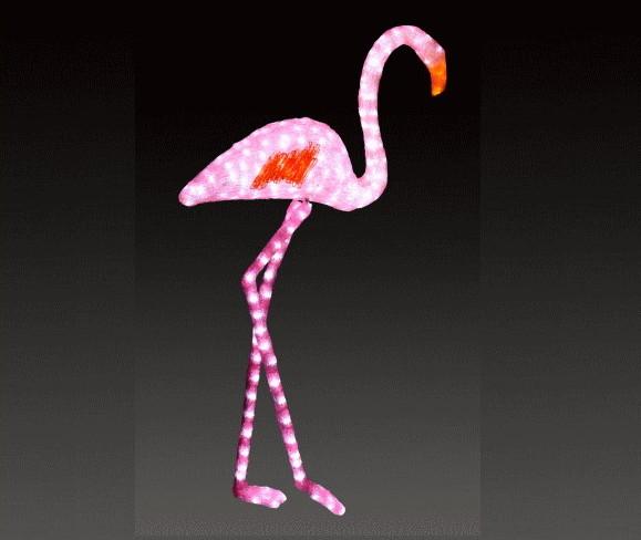 【イルミネーション】【大型商品】フラミンゴ【ピンク】【C】【鳥】【湖】【トリ】【輝き】【デザイン】【LED】【置物】【アニマル】【動物】【電飾】【モチーフ】【クリスマス】【クリスタル】【かわいい】