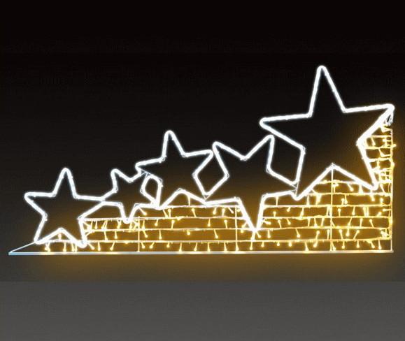 【イルミネーション】シューティングスター【ウォームホワイト】【星】【LED】【スター】【流星】【2D】【装飾】【飾り】【アート】【輝き】【電飾】【モチーフ】【クリスマス】【クリスタル】【かわいい】
