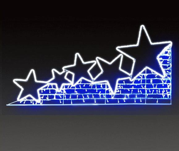 【イルミネーション】シューティングスター【ブルー】【星】【LED】【スター】【流星】【2D】【装飾】【飾り】【アート】【輝き】【電飾】【モチーフ】【クリスマス】【クリスタル】【かわいい】