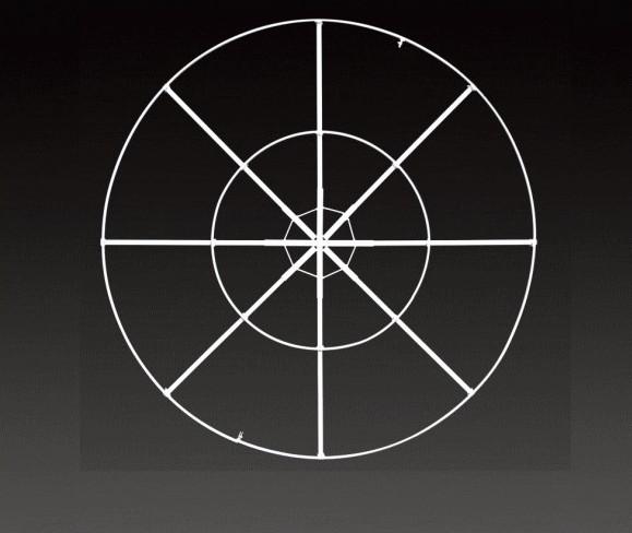 【部品】サークルフレーム【120】【サークル】【シャンデリア】【オプション】【スチール】【演出】【ライト】【ツリー】【イルミネーション】【電飾】