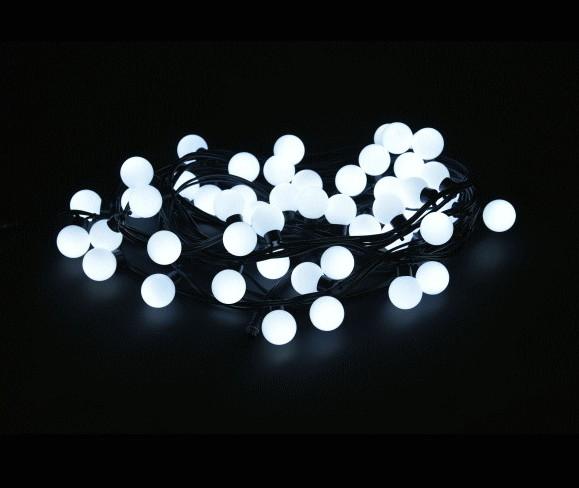 【LED】【ライト】【ストレート】LEDグローブストリングライト【ホワイト】【38】【白】【ボールライト】【50球】【拡散LED】【ストリング】【ライト】【プロ】【工事】【イルミネーション】【クリスマス】【電飾】