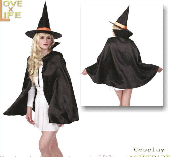 ハロウィン コスプレ 魔女セット Ladies OUTLET SALE 国内正規総代理店アイテム 大大人気 魔女といったら魔女帽子とマント 5 大人気 ハロウィン変装の定番 ☆AOIデパートのコスプレシリーズ コスチューム 衣装