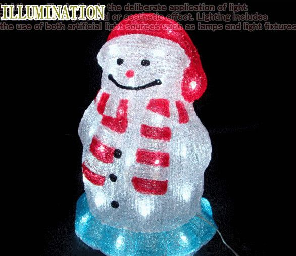 LEDアクリルスノーマンミニ LEDイルミネーション 【LED】【20 】【送料無料】【クリスマス】【イルミネーション】【電飾】【モチーフ】【大人気】