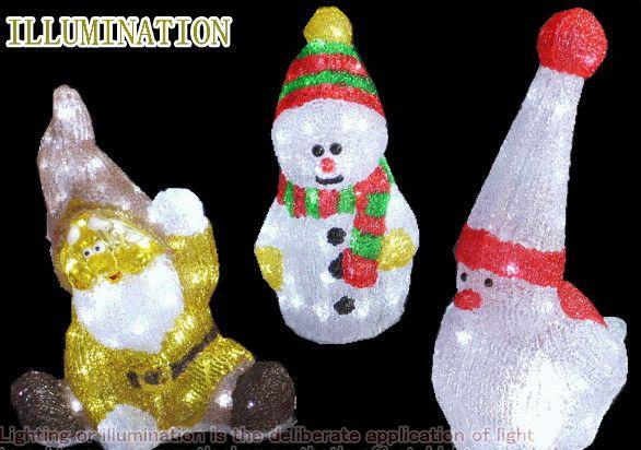LEDアクリル【ミニ】クリスマスキャラクター【トリ】【小人】【スノーマン】今年は一段とクォリティーがたかい! LEDイルミネーション 【LED】【20 】【送料無料】【クリスマス】【イルミネーション】【電飾】【モチーフ】【大人気】