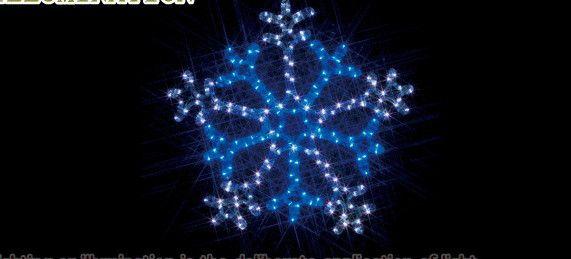 【ローボルト】LEDルミネーション(連結タイプ) LEDモチーフ 雪の結晶 (2色点滅 白・青)☆LEDイルミネーション 【LED】【送料無料】【クリスマス】【イルミネーション】【電飾】【モチーフ】【大人気】
