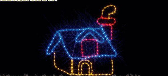 【ローボルト】LEDルミネーション(連結タイプ) LEDモチーフ 煙突のある家☆LEDイルミネーション 【LED】【送料無料】【クリスマス】【イルミネーション】【電飾】【モチーフ】【大人気】