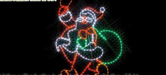 【ローボルト】LEDルミネーション(連結タイプ) LEDモチーフ サンタクロース☆LEDイルミネーション 【LED】【送料無料】【クリスマス】【イルミネーション】【電飾】【モチーフ】【大人気】