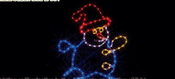 【ローボルト】LEDルミネーション(連結タイプ) LEDモチーフ 雪だるま☆LEDイルミネーション 【LED】【送料無料】【クリスマス】【イルミネーション】【電飾】【モチーフ】【大人気】
