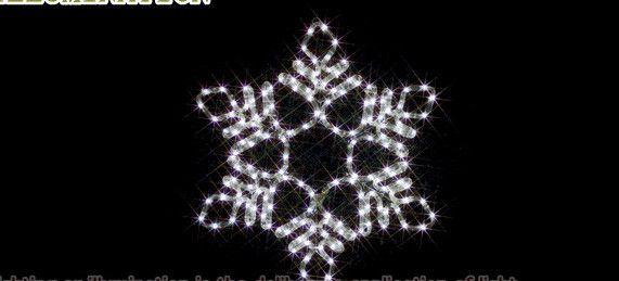 【ローボルト】LEDルミネーション(連結タイプ) LEDモチーフ 雪の結晶(中・白)☆LEDイルミネーション 【LED】【送料無料】【クリスマス】【イルミネーション】【電飾】【モチーフ】【大人気】