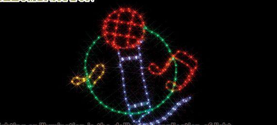 【ローボルト】LEDルミネーション(連結タイプ) LEDモチーフ カラオケ☆LEDイルミネーション 【LED】【送料無料】【クリスマス】【イルミネーション】【電飾】【モチーフ】【大人気】