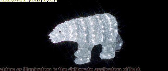【ローボルト】LEDクリスタルモチーフ しろくま☆LEDイルミネーション 【LED】【送料無料】【クリスマス】【イルミネーション】【電飾】【モチーフ】【大人気】