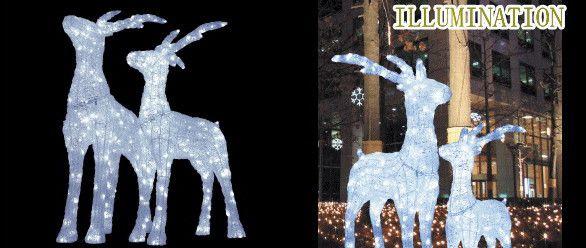 【イルミネーション】【大型商品】LED クリスタルグロー 立体 スタンディングトナカイ【L】【アニマル】【3D】【クリスマス】【ILLUMINATION】【電飾】【装飾】【飾り】【イベント】【光】【LED】【モチーフ】【かわいい】今年もかわいいイルミネーションで飾り付け
