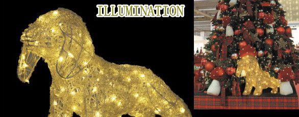 【2012新作イルミネーション】LED クリスタル ダックスフンド【ドッグ】☆LEDイルミネーション クォリティーの高いイルミネーションが勢ぞろい【LED】【送料無料】【クリスマス】【イルミネーション】【電飾】【モチーフ】【大人気】