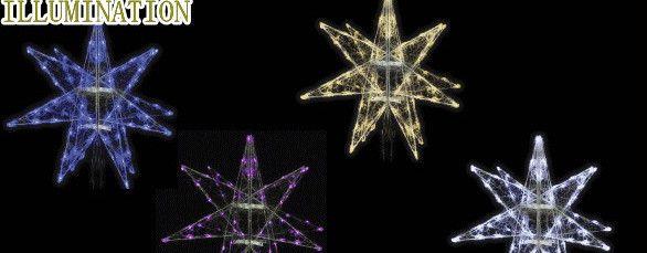 <title>LED イルミネーション 大型商品 LEDクリスタル ギャラクシースター 輝き M 4枚羽 星 万能 シンプル 大大人気 デザイン 置物 装飾 光 電飾 モチーフ クリスマス クリスタル 流行 かわいい 今年もかわいいイルミネーションで飾り付け</title>