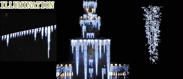 【LED】【イルミネーション】LED アイスライト【300球】【ホワイト】【つらら】【ツララ】【氷結】【冬国】【ライト】【氷】【壁掛け】【アート】【輝き】【電飾】【クリスマス】【クリスタル】【かわいい】美しい氷のライト 垂らせば美しさにうっとりしちゃいます