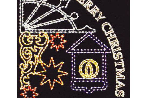 メリークリスマス3 クリスマス イルミネーション【20 】【送料無料】【クリスマス】【イルミネーション】【電飾】【モチーフ】【大人気】