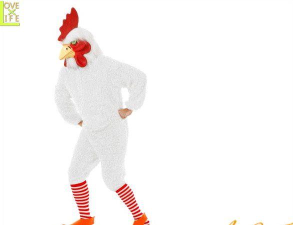 【メンズ】ファンキーチキン【ホワイト】【チキン】【ニワトリ】【キャラクター】【仮装】【衣装】【コスプレ】【コスチューム】【ハロウィン】【パーティ】【イベント】【かわいい】今年のハロウィンはかわいい衣装でかっこよく着こなし 目立っちゃいましょう