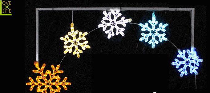 【50 】【LEDライト】【大人気】LED スノーフレークアーチ【雪】【スノー】大きいサイズのアーチ♪今回は雪の結晶♪コレ一個ですごい存在感♪【2012年新作】【送料無料】【大人気】【イルミネーション】【LED】【大人気】