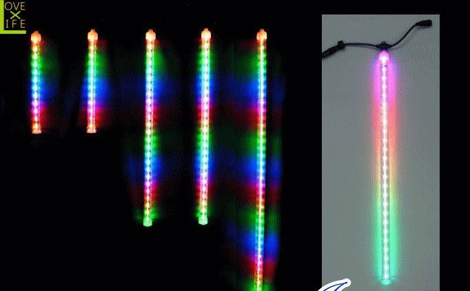 【LEDライト】【20 】LED レインボードロップ【50球】ドロップスノーシリーズにレインボーが登場♪モット派手に!モット楽しく♪種類も豊富です♪【2012年新作】【送料無料】【大人気】【イルミネーション】【LED】【大人気】