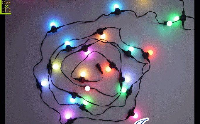【LED】【RGB】【DR2(C)5RGB】LED ボールライト【25球】【ボール】【球】【玉】【レインボー】レインボボールライト カラフルな真ん丸い光が癒し効果バツグン AOIデパートのLEDイルミネーション【大人気】【イルミネーション】【クリスマス】【電飾】【省エネ】