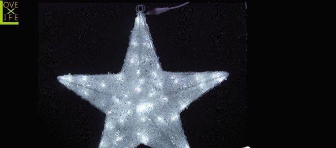 【LEDモチーフ】【20 】LED クリスタルスター【90cm】【L】【星】【スター】色々なサイズのクリスタルスターで奥行きのある演出をどうぞ♪【2012年新作】【送料無料】【大人気】【イルミネーション】【クリスマス】【LED】【大人気】