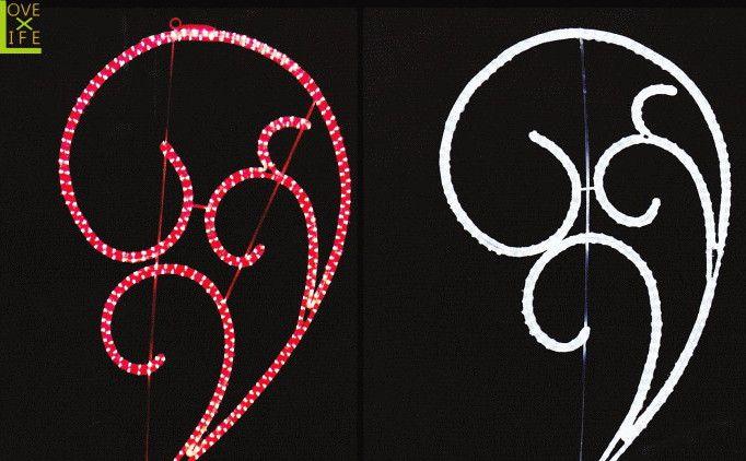 【LED】【イルミネーション】【大型商品】LEDクリスタル ラバーズ【羽】【ハート】【自然】【植物】【アート】【輝き】【電飾】【モチーフ】【クリスマス】【クリスタル】【かわいい】単体でも美しいモチーフですが重ねればハートのような羽のような美しいモチーフに