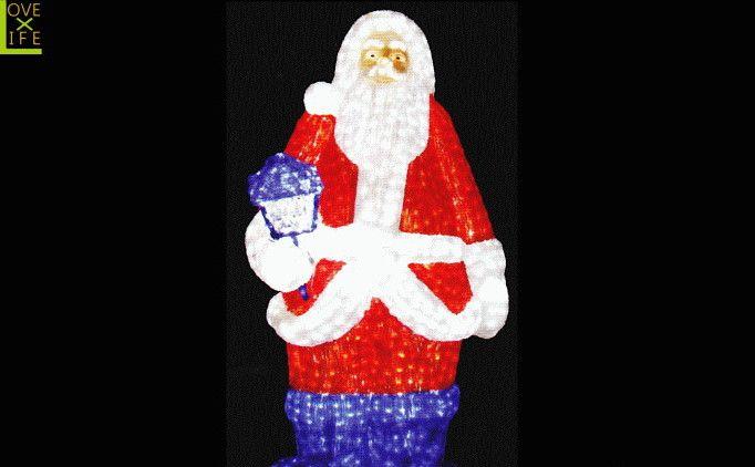 【LEDモチーフ】【20 】LED クリスタル サンタクロース【B】【サンタ】【3D】ハイクオリティーシリーズのサンタ♪全身にコーティング加工!輝きは最高です♪【2012年新作】【送料無料】【大人気】【イルミネーション】【クリスマス】【LED】【大人気】