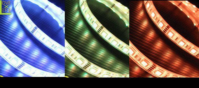 【テープライト】【30 】LEDテープライト【超光】【レインボー】【5M】16パターンのグラデーションが可能♪薄いテープに美しいLEDを埋め込みました!ラインが美しく♪【2012年新作】【送料無料】【大人気】【イルミネーション】【クリスマス】【LED】【大人気】